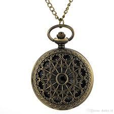 cindiry retro vintage bronze spider web hollow quartz necklace watch pendant steampunk chain clock pocket watches p10 pocket watch pocket watches