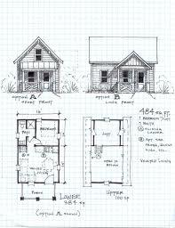 floor plan garden cottage one level with loft cabin designs plans