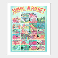 Alphabet Chart Australia Animal Alphabet Chart