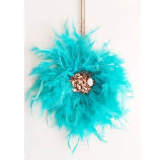 macrame wall hanging blue feather juju