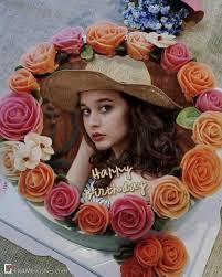 happy birthday cake with photo editor