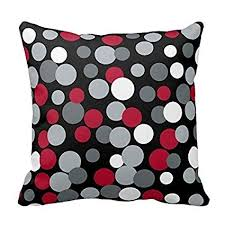 black and gray pillows. Modren Pillows DECORLUTION Gray Red And Black Polka Dots Design Throw Pillow Cover Case  Decorative Square For Home For And Pillows P