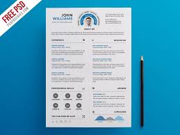 Infographic Resume Interesting Free PSD Clean And Infographic Resume PSD Template By PSD Freebies