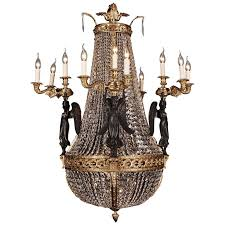 representative bronze chandelier with crystal pierre philippe thomire for