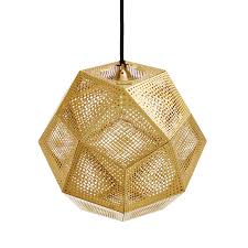 tom dixon style lighting. Antique Tom Dixon Lighting Brass Etch Pendant The Detailed Pattern Creates A MAss Of Intricate Shadows Style