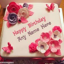 Beautiful Birthday Cake For Girls With Name Cake Name Pictures