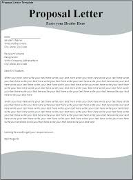 Letter Of Business Proposal Covering Letter For Business Proposal