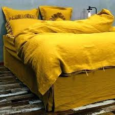 mustard yellow duvet cover mustard color bedding mustard yellow quilt mustard duvet cover washed linen bedding