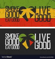 set of two rastafarian es smoke