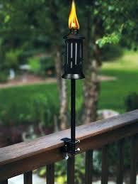 deck copper tiki torches diy solar flickering outdoor