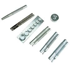 details about set of 11 punch tool snap rivet setter base kit for diy leather craft tools