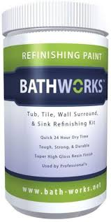 bathworks bathtub tile wall sink refinishing kit resin finish white 20 oz