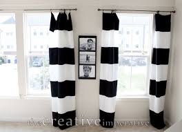 Exellent Black And White Curtains O Inside Decorating Ideas