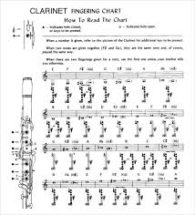 Clarinet Trill Chart Sample Clarinet Fingering Chart 15 Free Documents In Pdf