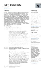 Strategic Account Manager Resume Samples Visualcv Resume Samples