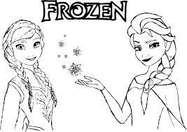Frozen Anna And Elsa Coloring Pages Trustbanksurinamecom
