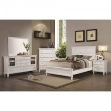 Coaster Camellia White Collection Bed With Panel Headboard Country Style Bed