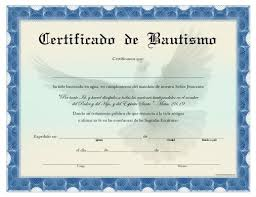 Certificado De Bautismo Template Certificado De Bautismo Para Imprimir Gratis Certificate