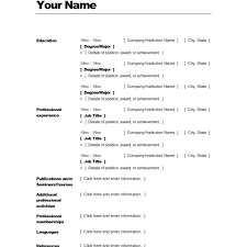 High School Resume Template Word - Kleo.beachfix.co