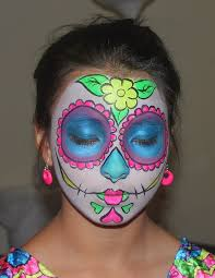 face painted day of dead sugar skull mask tutorial
