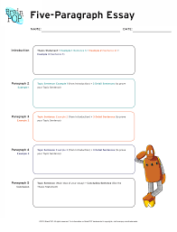 five paragraph essay graphic organizer brainpop educators