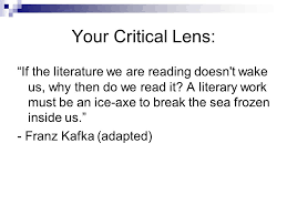 writing the critical lens essay ppt video online  your critical lens