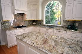 granite tile kitchen countertops sink and faucet installed on granite