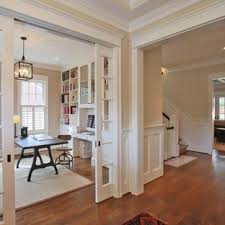 office french doors. Home Office - Traditional Freestanding Desk Medium Tone Wood Floor Idea In DC Metro French Doors E