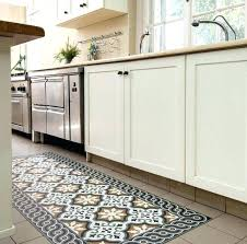 decorative vinyl floor rugs image detail for stenciled painted rug cloth pad mat simply beautiful kitchen vinyl floor safe area rugs