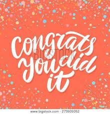 Congratulations Poster Congrats You Did It Congratulations Banner Hand Lettering