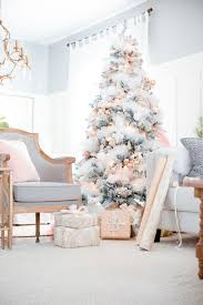 Soft Pink and White Christmas Tree