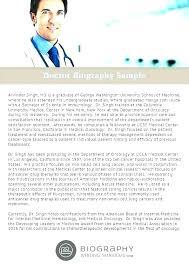 Short Bio Template Word Writing A Self Biology Lab Reports