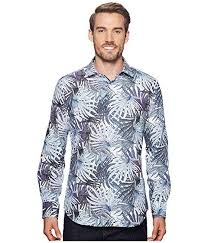 Bugatchi Shaped Fit Palm Frond Woven Shirt At Zappos Com