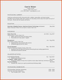 Sample Cover Letter For Resume Veterinary Technician Fresh Objective