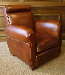 Leather French Club Chair ...