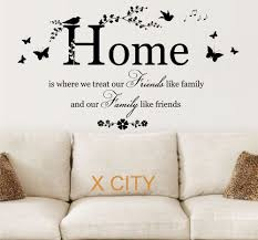family friends home quote creative wall art sticker removable vinyl transfer decal warm home living room decoration s m l in wall stickers from home  on home wall art quotes with family friends home quote creative wall art sticker removable vinyl