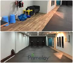 luxury vinyl flooring tiles eva foam mat supply install at muay thai pj