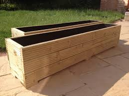 Wooden Garden Troughs And Planters Wooden Garden Trough Planter Farmhouse  Design And Furniture