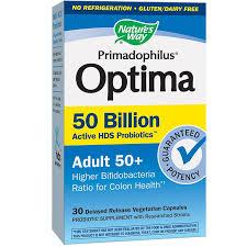 Primadophilus <b>Optima Adult</b> 50+ 50 BILLION CFU (30 Vegetarian ...