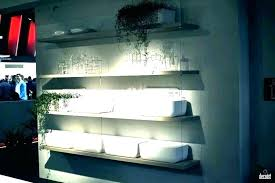 floating shelf with lights shelves led lighted acrylic lighting d underneath wall floating shelf with lights