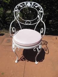 woodard was a successful manufacturer of wrought iron patio furniture this wrought iron dining set