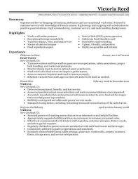 Restaurant Resume Templates How To Write A For Job Server 773 Make