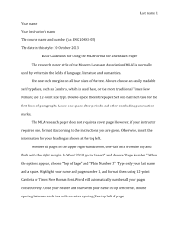 Mla Format Research Paper Samples Essay Layout Draft Outline In