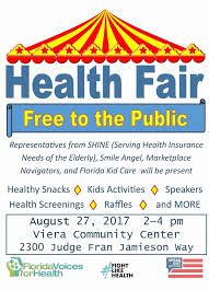 Health Fair Flyers 08272017 Community Health Fair Speak Out Brevard Health Fair Flyers