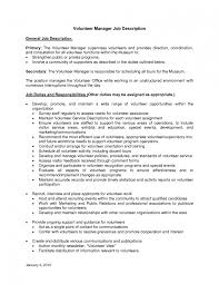 ... 14 Useful Materials For Volunteer Coordinator Good Resume Work Samples  3 Resume Template For Volunteer Work ...