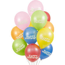 Its Party Time Latex Happy Birthday Balloons 12 Inch