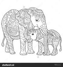 hand drawn elephants coloring page this stock vector on shutterstock find other images find this pin and more on elephant