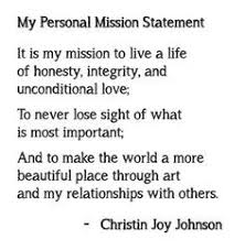 my vision statement sample personal mission statement examples for life google search