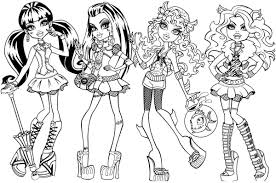 Monster High Games For Girls Doll Dress Up Game In Coloring Pages