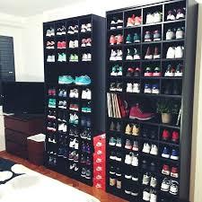 sneaker display case my new shelves sneakers puma glass sneaker display case
